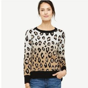 Ann Taylor Ombre Animal Print Sweater